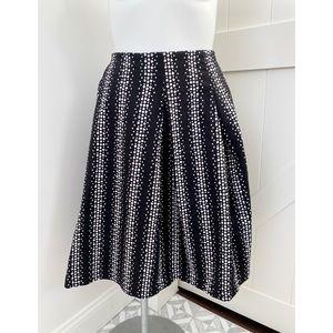 Lane Bryant Polka Dot A Line Pleated Career Skirt